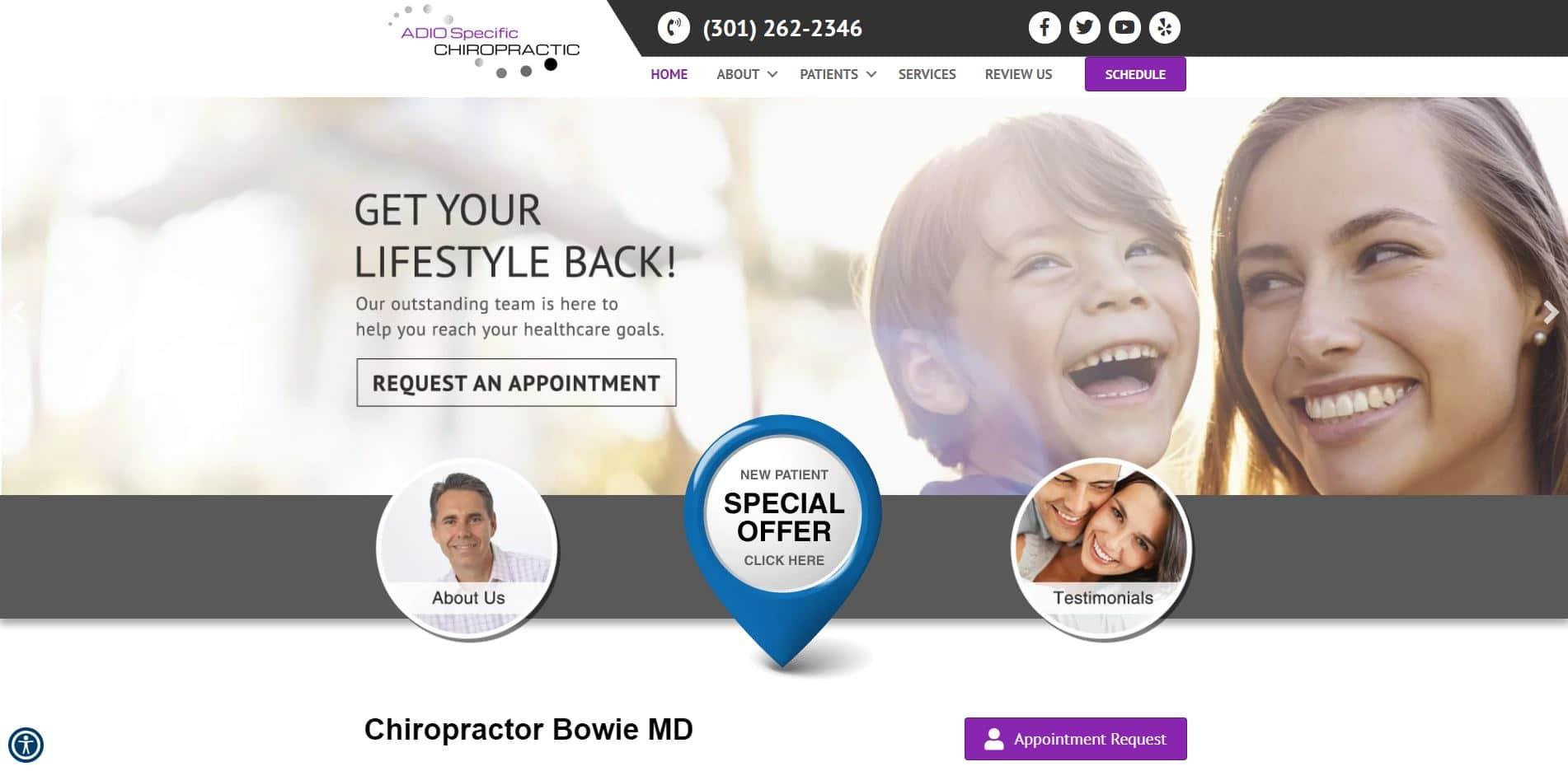 Chiropractor in Bowie