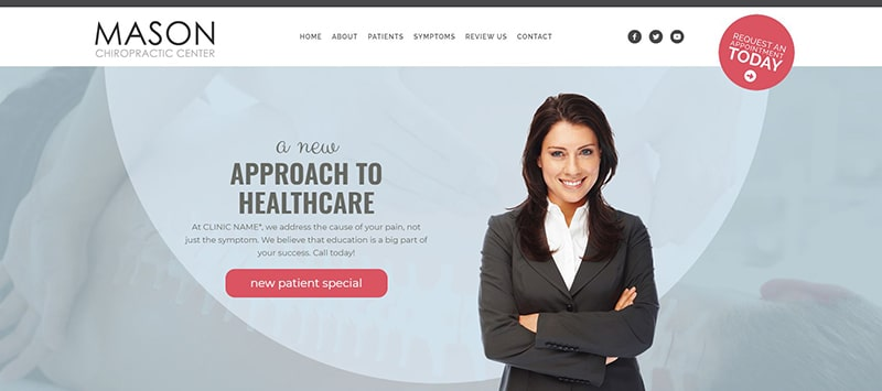 Chiropractic Website with Pink Accent Color