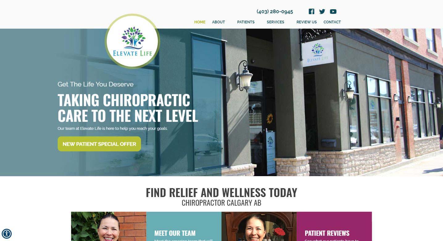 Chiropractor Calgary AB Elevate Life