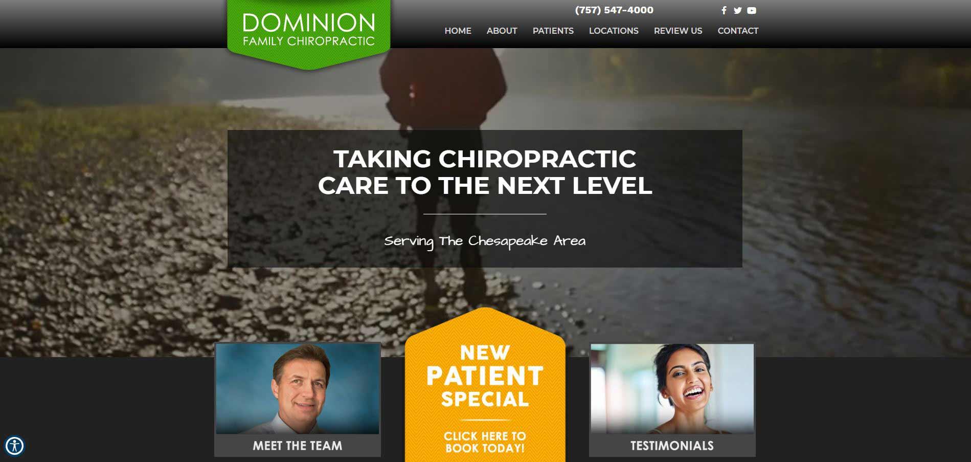 Chiropractor Chesapeake VA Dominion Family Chiropractic