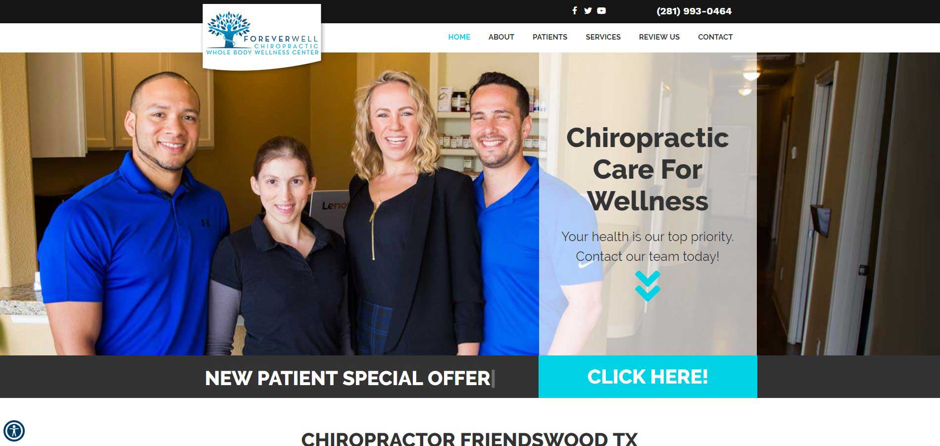 Chiropractor Friendswood TX Forever Well Chiropractic Whole Body Wellness Center