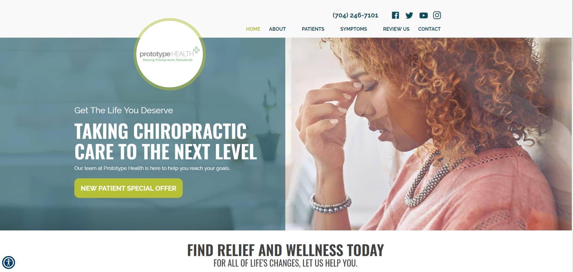 Chiropractor Matthews NC Prototype Health