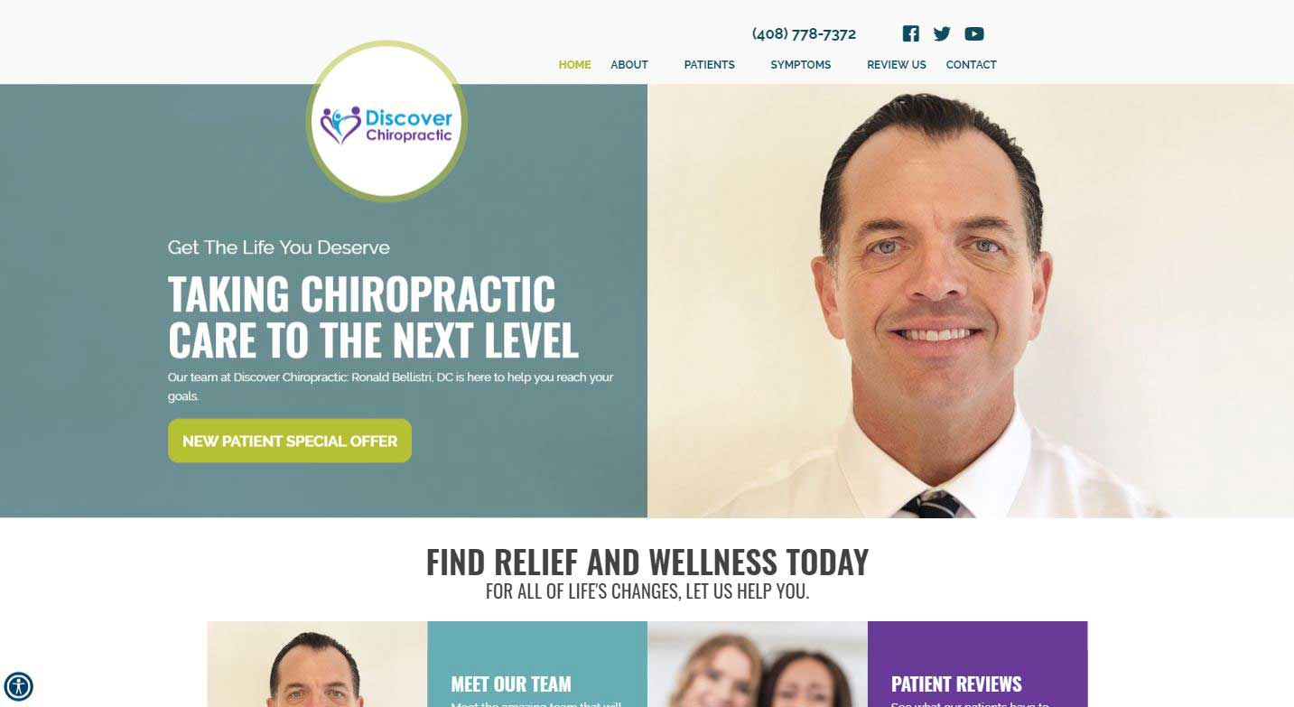 Chiropractor Morgan Hill CA Discover Chiropractic Ronald Bellistri DC