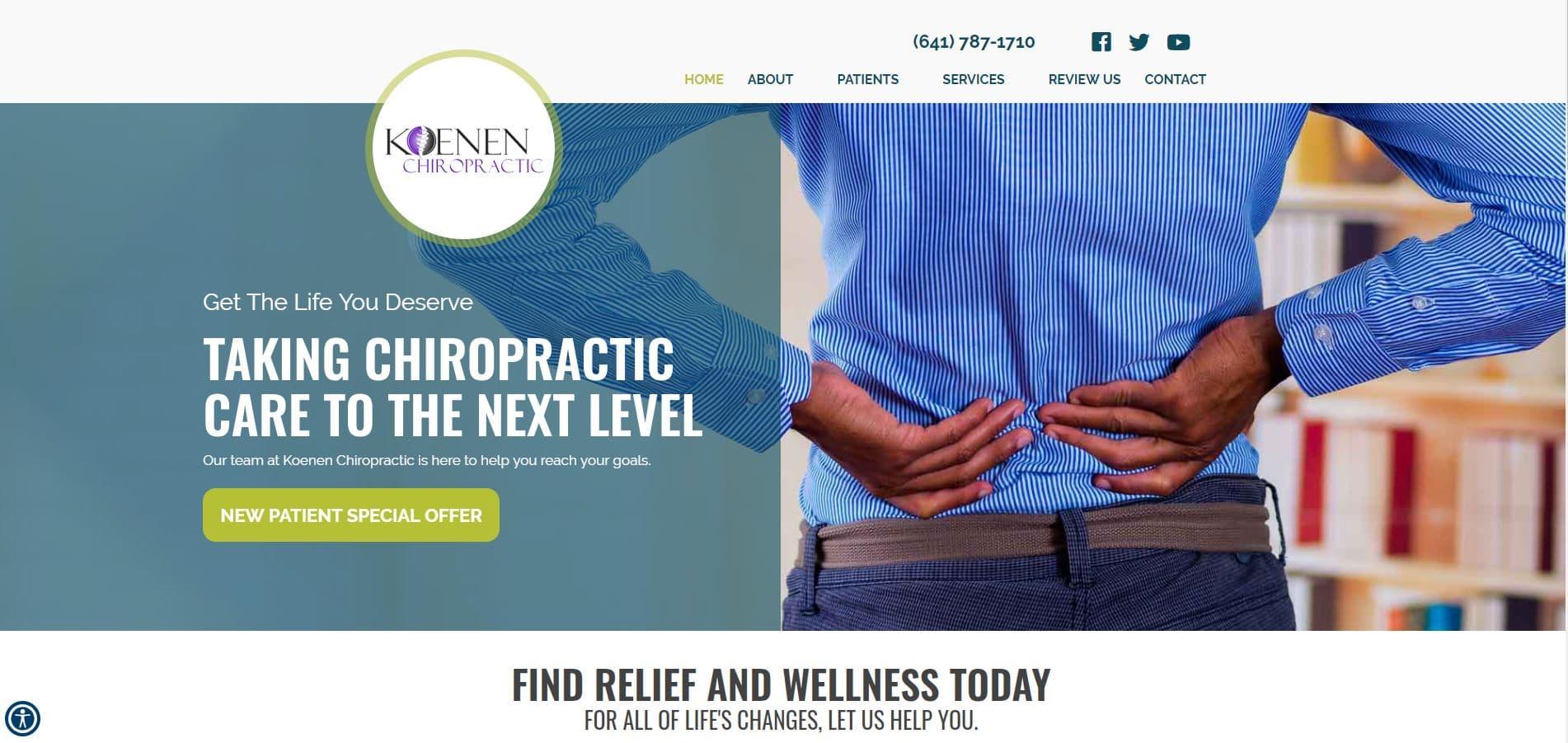 Chiropractor Newton IA Koenen Chiropractic