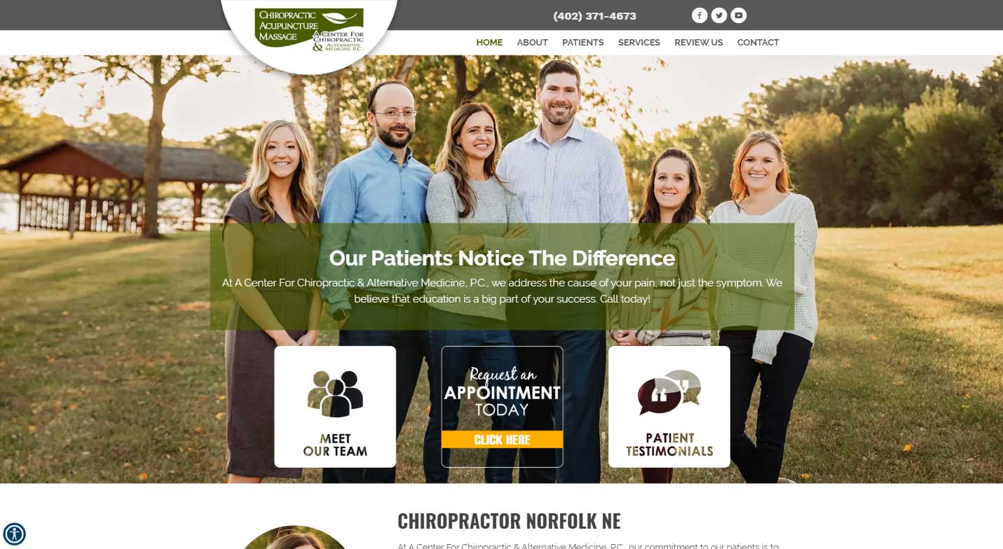 A Center For Chiropractic & Alternative Medicine, P.C. Website Review