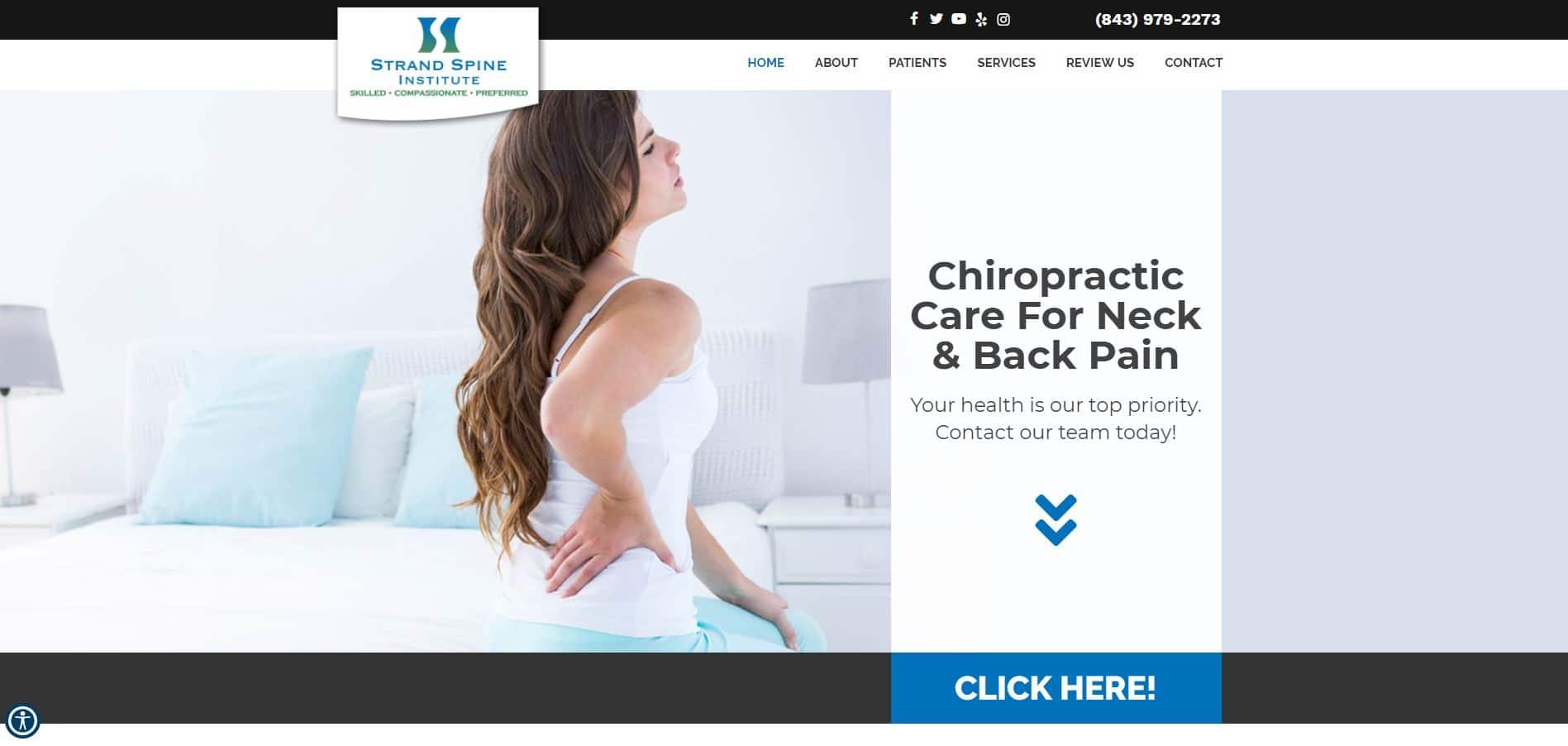 Chiropractor Pawleys Island SC Strand Spine Institute