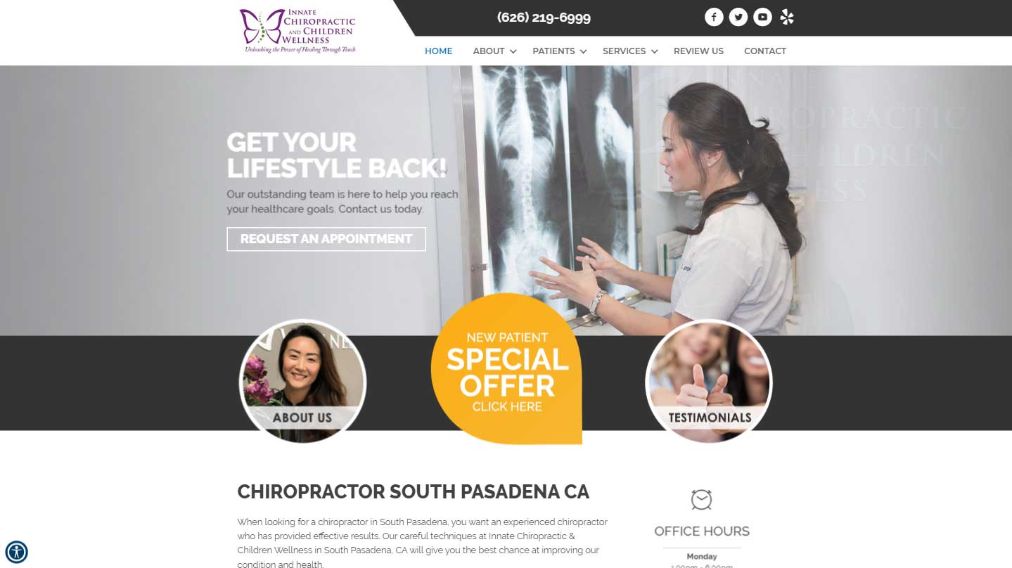 Chiropractor South Pasadena CA Innate Chiropractic & Children Wellness