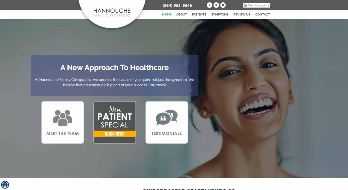 Chiropractor Spartanburg SC Hannouche Family Chiropractic