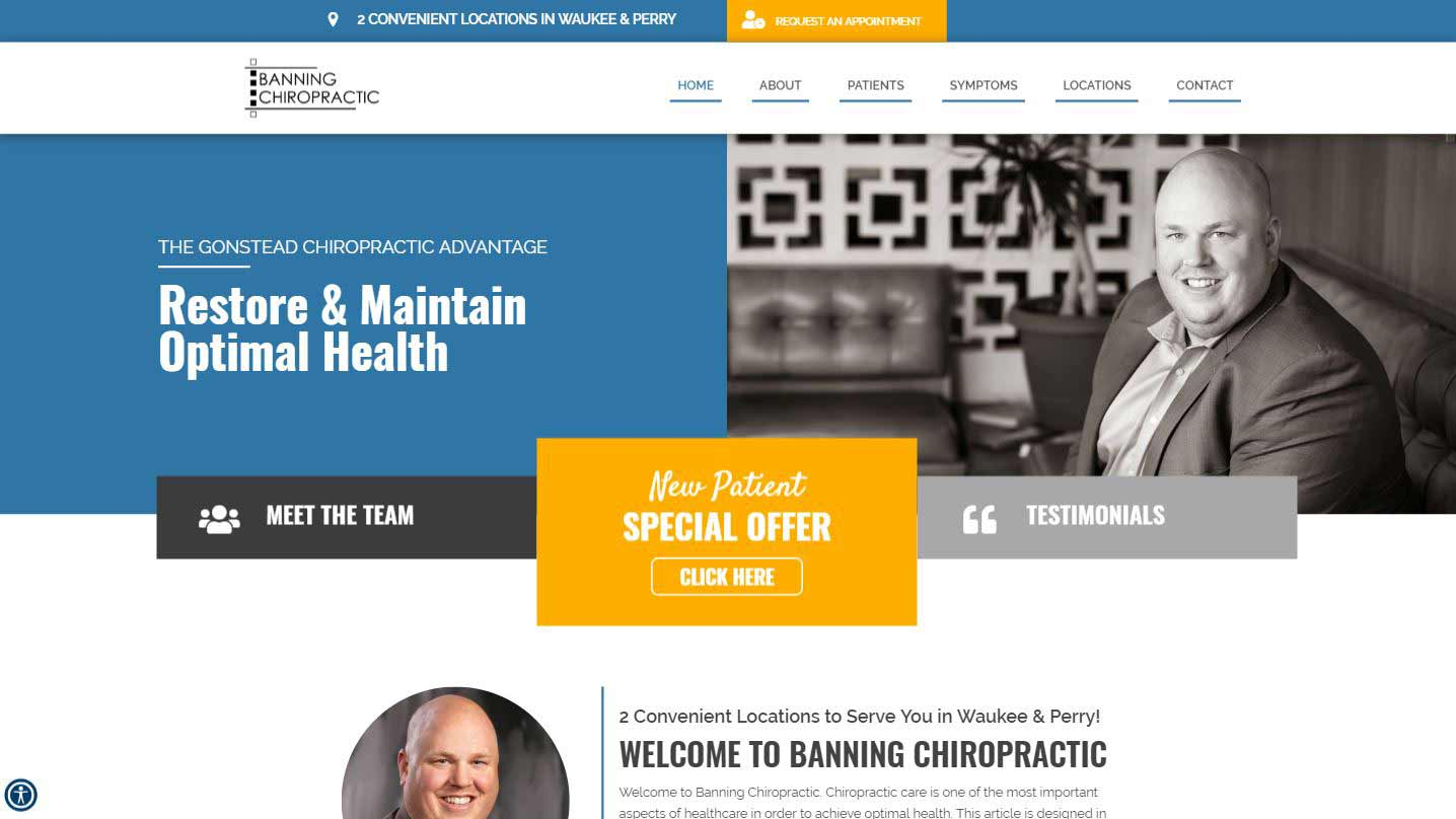 Chiropractor Waukee and Perry IA Banning Chiropractic