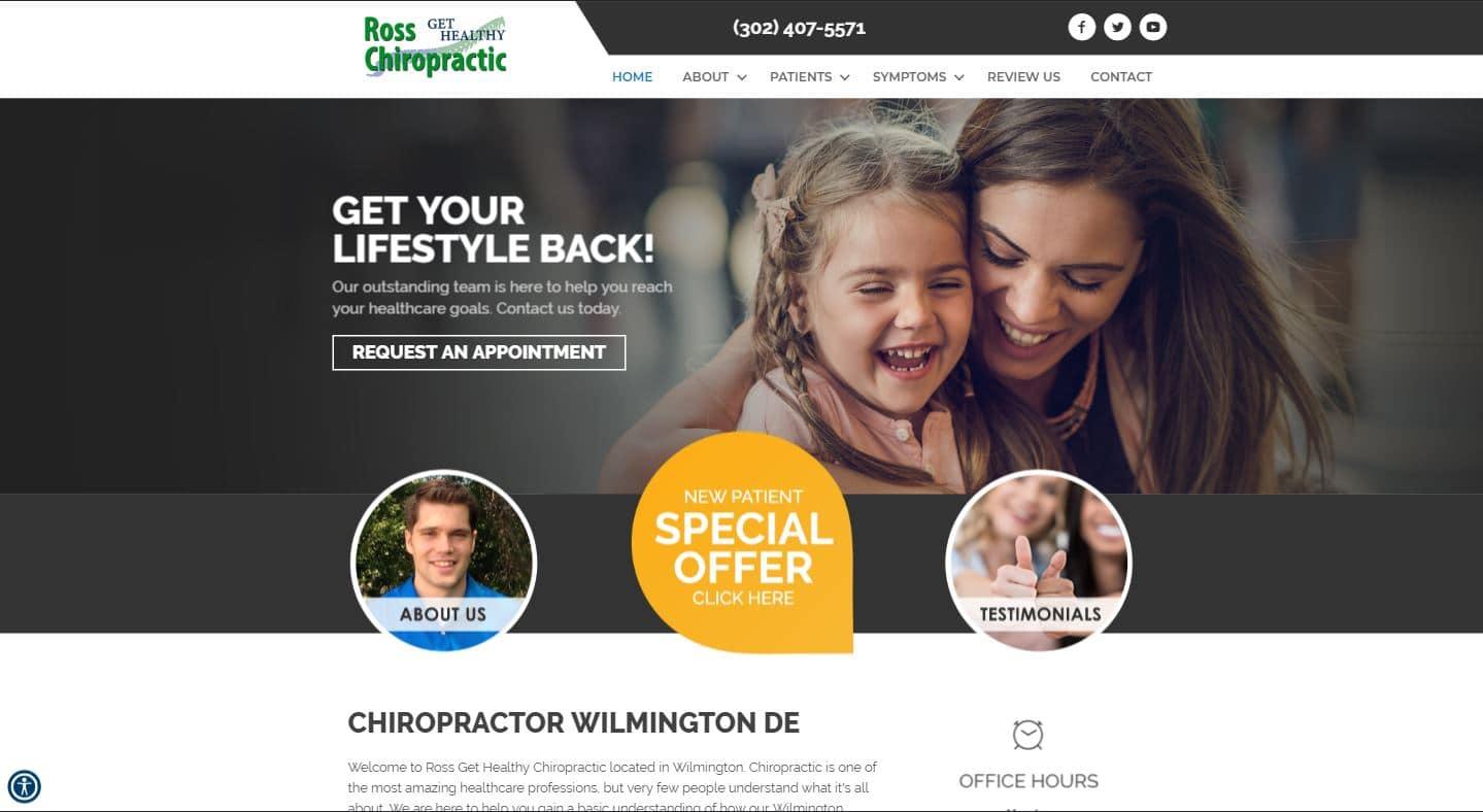 Chiropractor Wilmington DE Ross Get Healthy Chiropractic