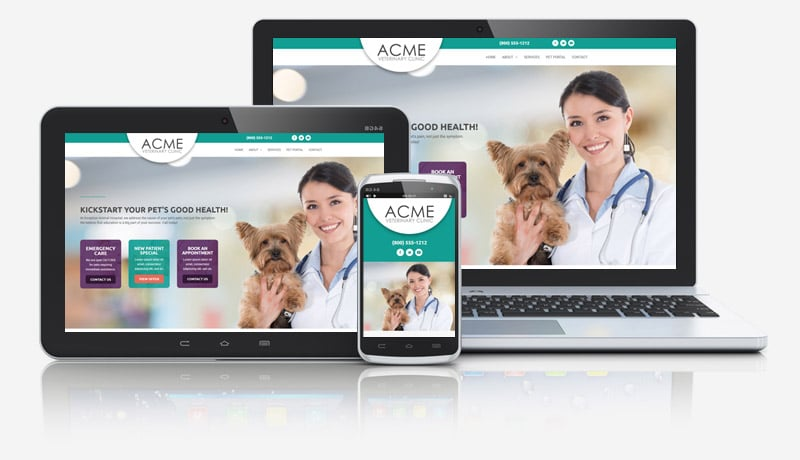 Danni Veterinarian Website Collage