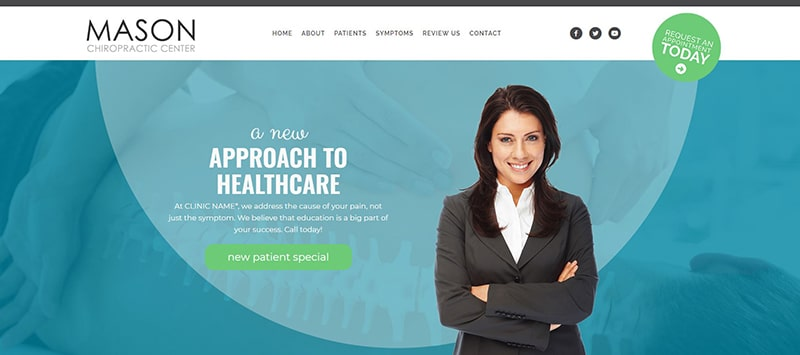 Chiropractic Website with Green Accent Color