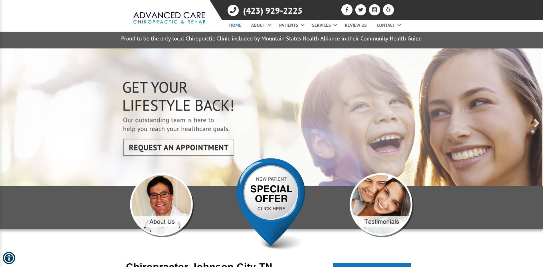 Chiropractor in Johnson City