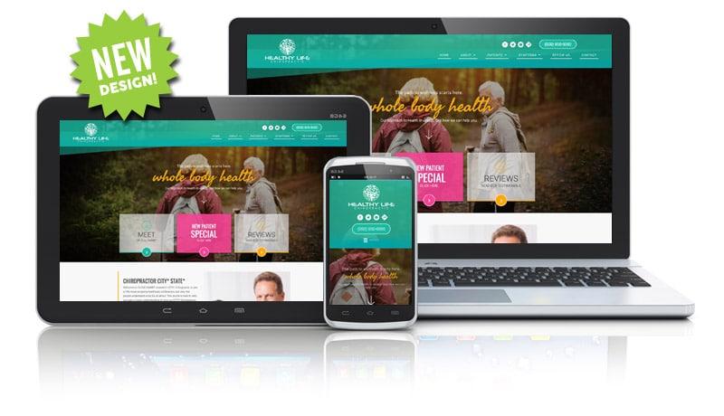 Colorful Website Design for Chiropractors