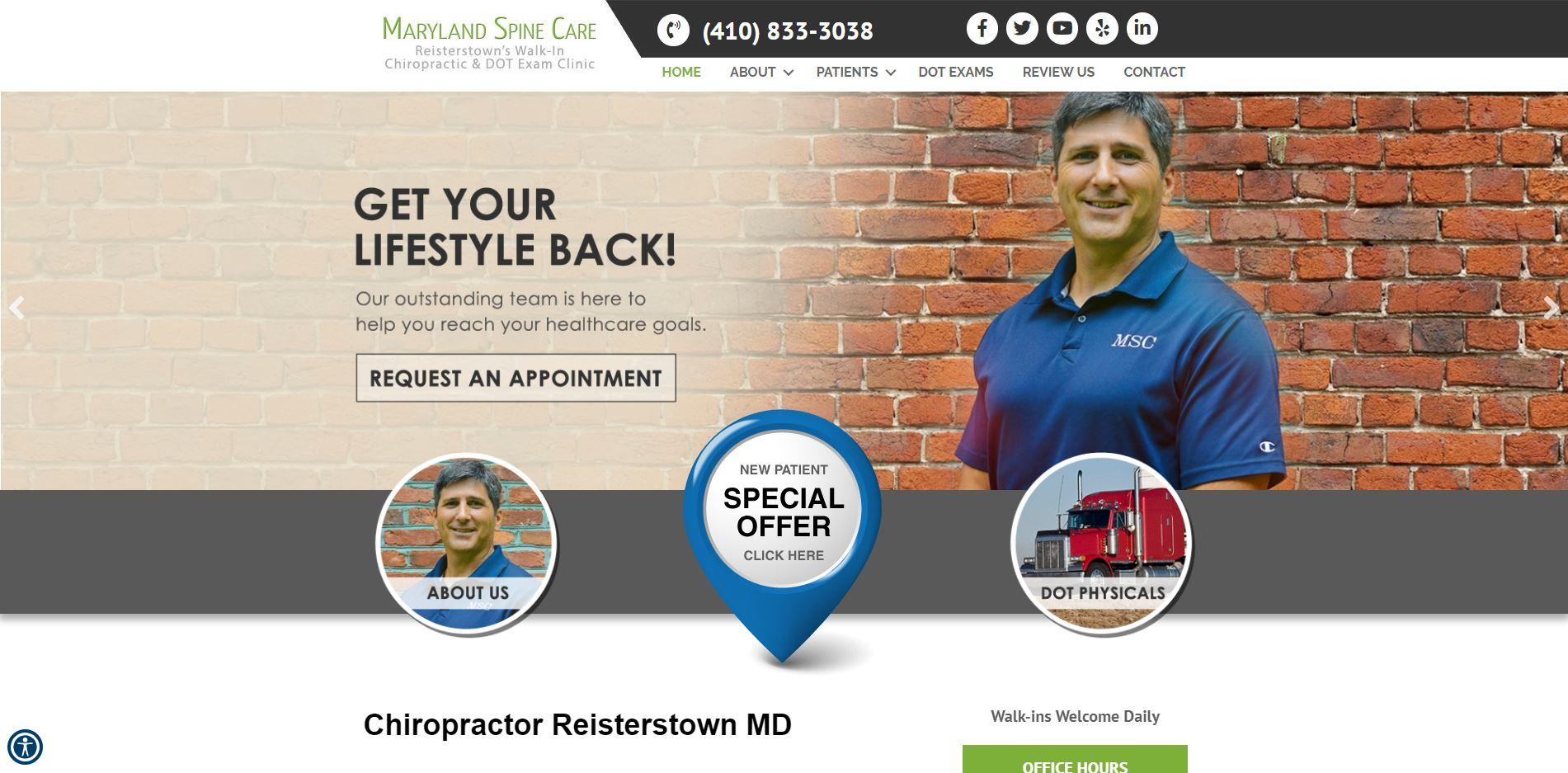 Chiropractor in Reisterstown