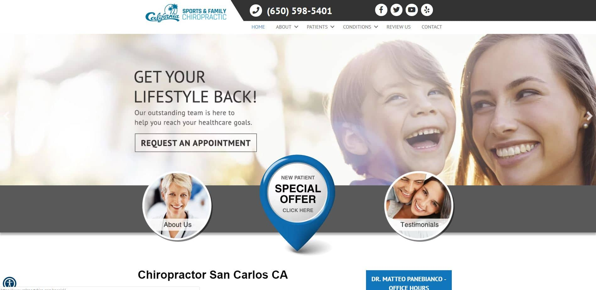 Chiropractor in San Carlos
