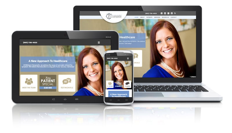 Websites designed for a female chiropractor