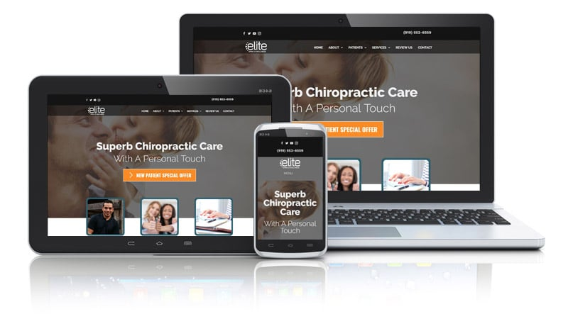 Chiro website with motion