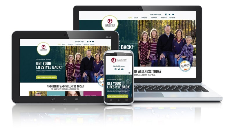 Chiropractic Web Design for Family Practice