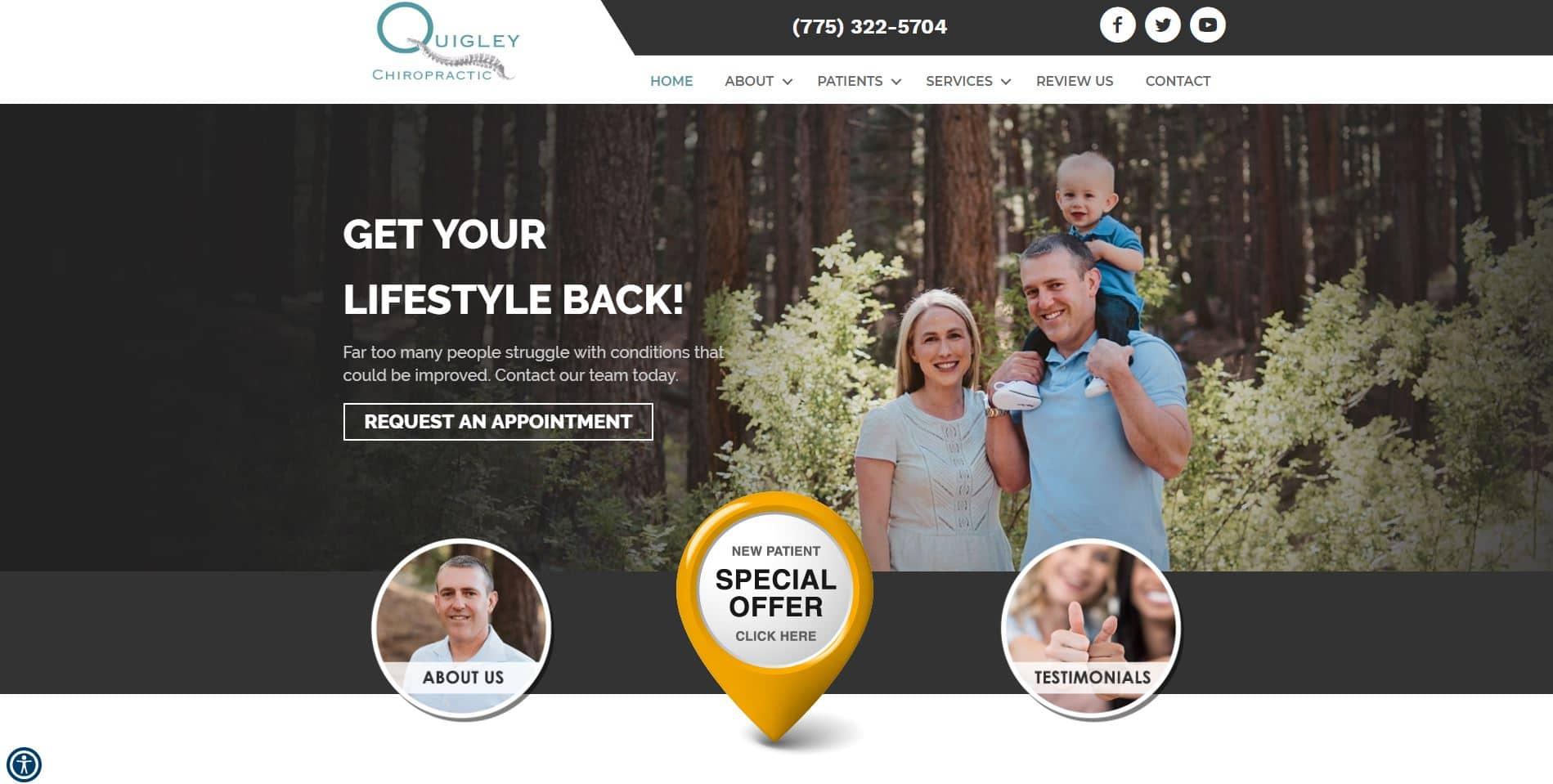 reno chiropractor website